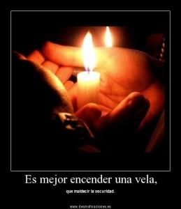 enciende una vela.