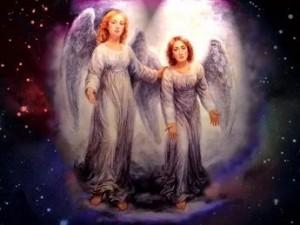 par de ángeles mensaje.